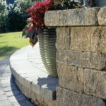 garden retaining wall made of stone