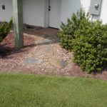 loose stone and gravel walkway
